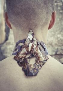 urushi remnants choker jewellery
